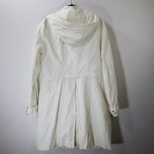 Elie Tahari Jackets & Coats - Elie Tahari White Zip Up Hooded Jacket Size M